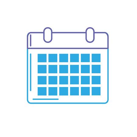 line calendar to organizar important events vector illustration