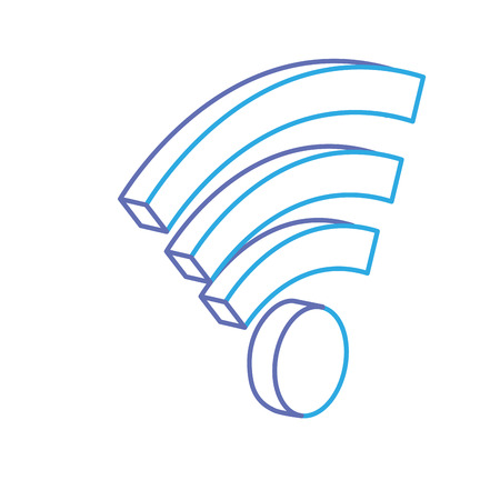mobile communication: line wifi technology to connect in the digital network vector illustration Illustration