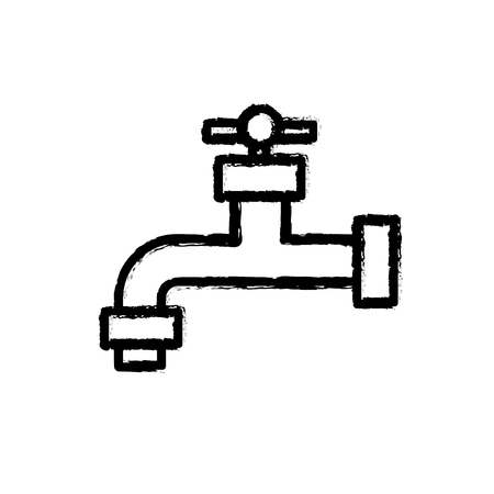 drop water: figure ecologycal faucet to save water and environment care vector illustration Illustration