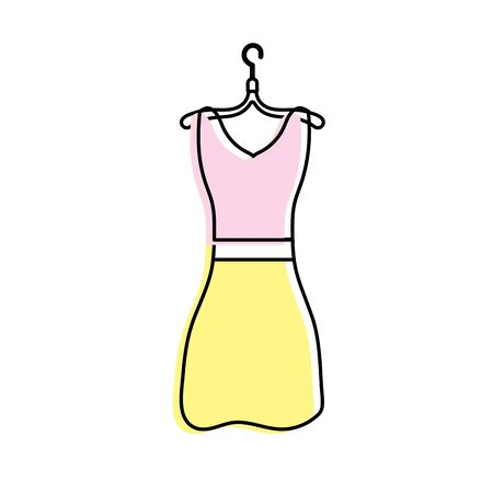 woman dress casual design style vector illustration