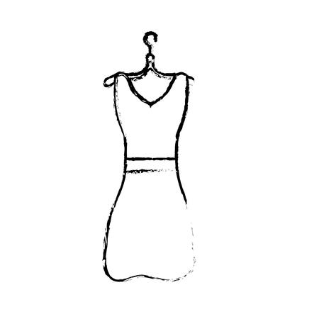 figure woman dress casual design style