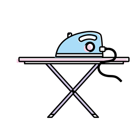 iron electrical object and ironing board