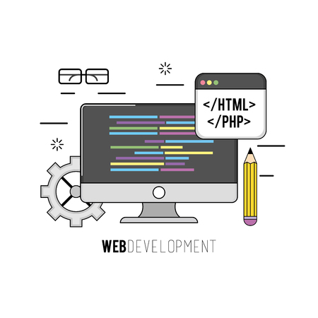 css: computer with code programing software data