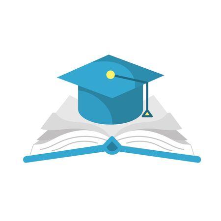 cap graduation over open book Illustration