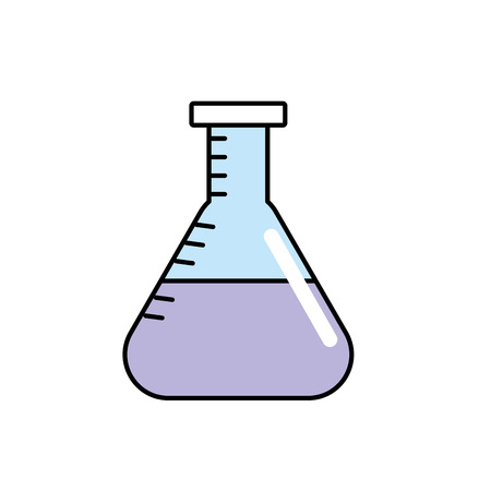 flask to lab chemical design vector illustration
