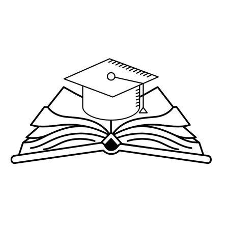 ligne graduation graduation sur open book vector illustration Vecteurs