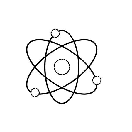 dotted shape physics orbit chemistry science education vector illustration