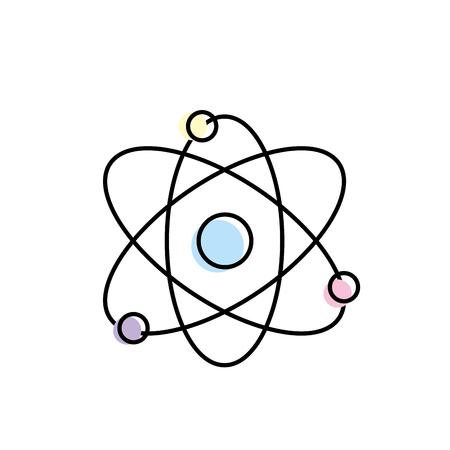 neutrons: physics orbit chemistry science education vector illustration