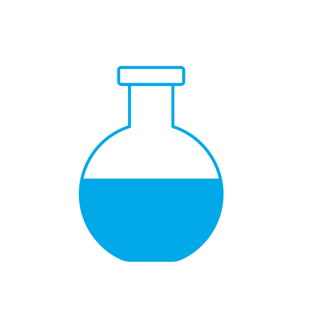 silhouette flask to lab chemical design vector illustration Illustration