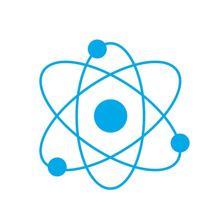 silhouette physics orbit chemistry science education vector illustration Illustration
