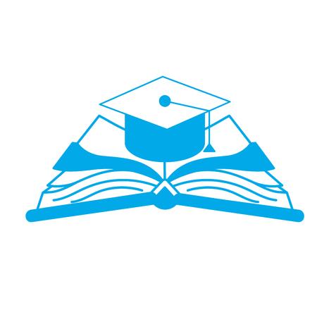 graduation silhouette graduation sur le livre ouvert