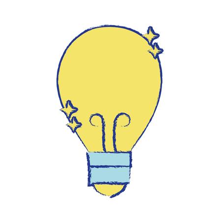 bulb power electric energy to illuminate Illustration