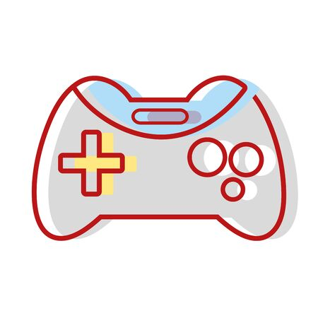 videogame console technology object to play Illustration