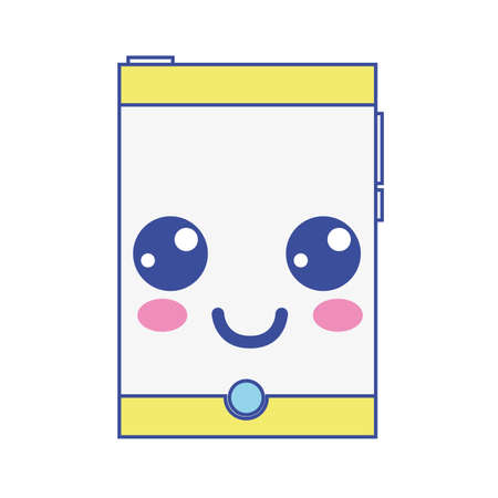 smartwatch kawaii téléphone heureux smartphone heureux illustration vectorielle