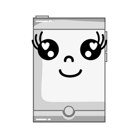 smartwatch kawaii téléphone heureux smartphone heureux illustration vectorielle Vecteurs