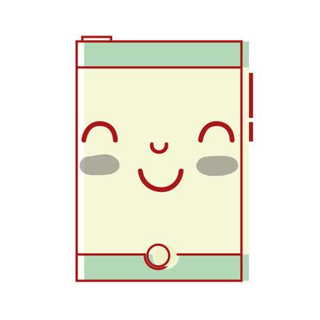 smartphone heureux mignon de la technologie illustration vectorielle Vecteurs