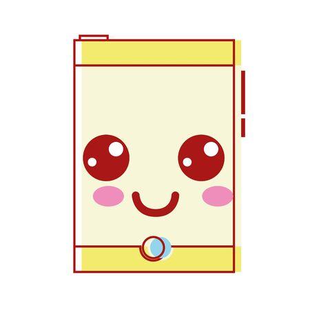smartphone heureux mignon de la technologie illustration vectorielle