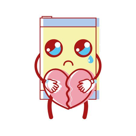 smartphone avec coeur romantique dans les mains