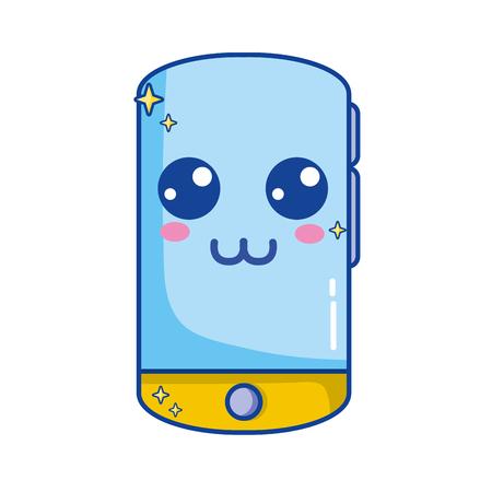 la technologie de smartphone heureux mignon Vecteurs