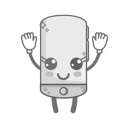 niveaux de gris kawaii mignon bonne technologie smartphone