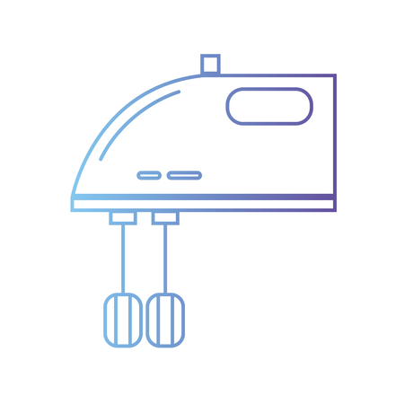 line technology mixer electric kitchen utensil vector illustration
