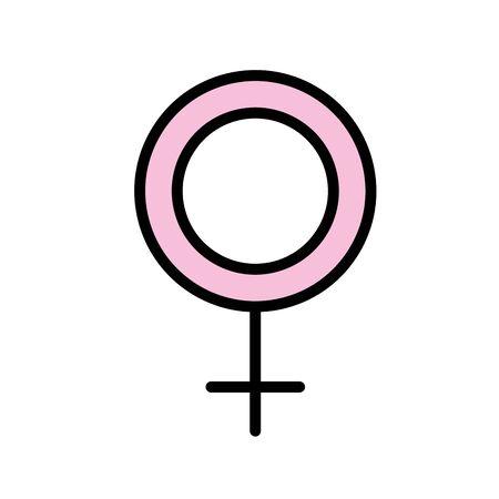 female symbol sign decoration design vector illustration Illustration
