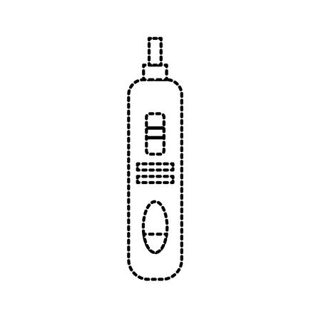 dotted shape pregnancy test medical and checking result Illustration