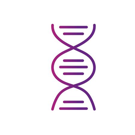 line dna science cell medicine molecule vector illustration Vektoros illusztráció