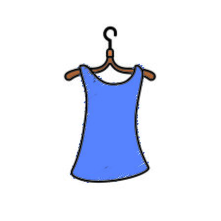 woman blouse casual design style vector illustration Illustration