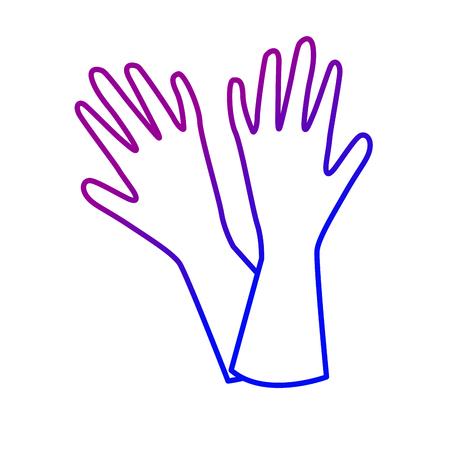 line washing gloves design style to homework Ilustrace