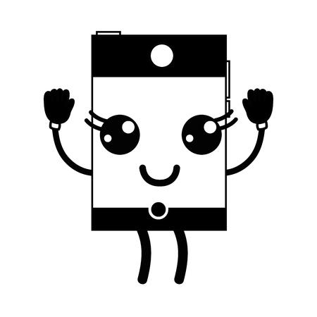smartphone mignon heureux de la technologie de téléphone