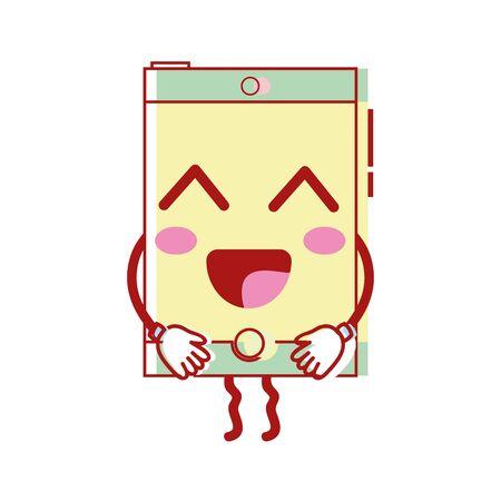 la technologie de smartphone heureux mignon