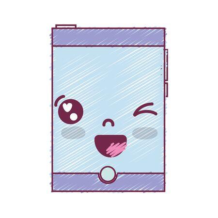 kawaii mignon drôle de smartphone de téléphone