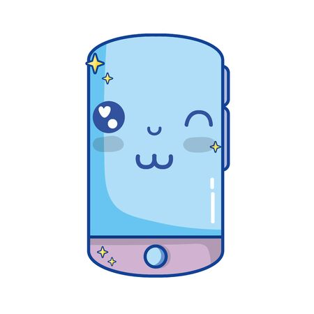 kawaii mignon drôle de smartphone de téléphone Vecteurs