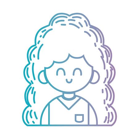 Lijn schoonheid meisje met kapsel en uniforme kleding Stockfoto - 87000985