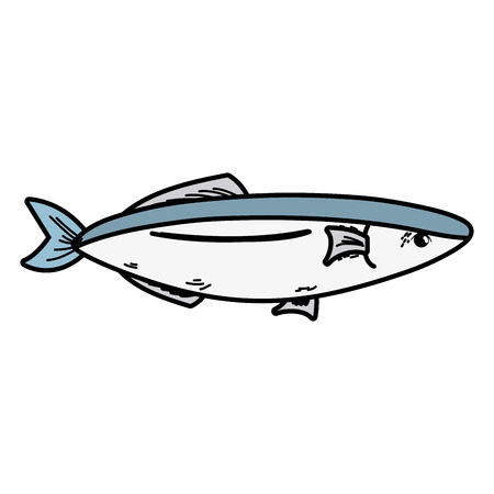 roasted: Delicious seafood fish vector illustration