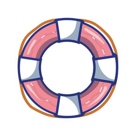 salvavidas: life buoy object to security emergency vector illustration Vectores