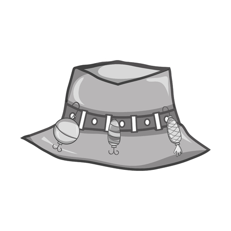 peasant: grayscale fishing peasant hat object, to warker