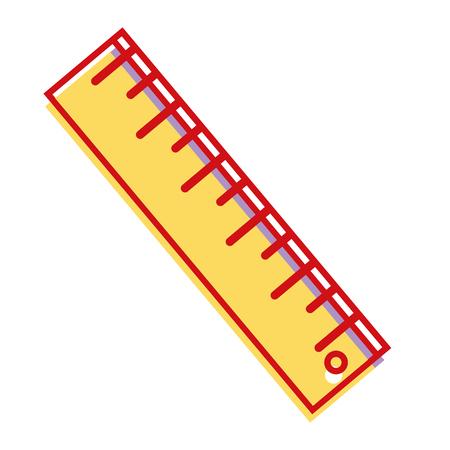 ruler design to school tool education vector illustration