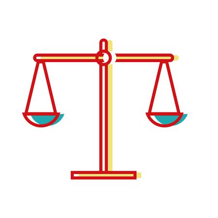 balance kilogram instrument object design vector illustration