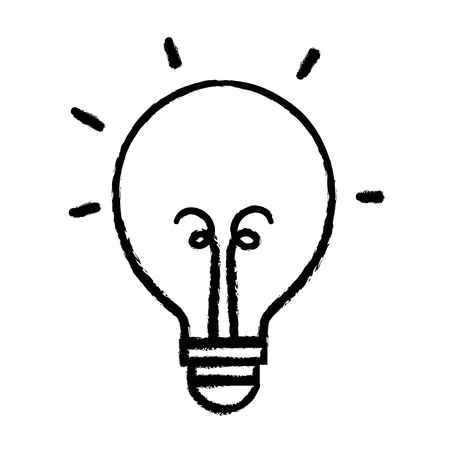 authors: figure light bulb energy object icon vector illustration