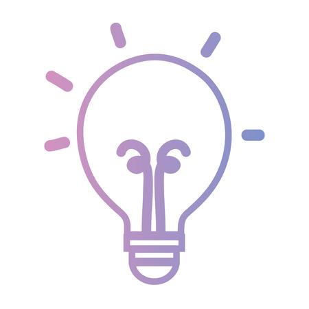 line light bulb energy object icon vector illustration Illustration