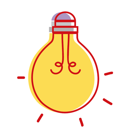 writing instruments: light bulb energy object icon