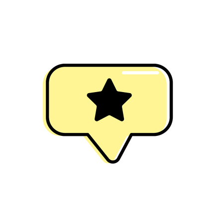 chat bubble with star design inside