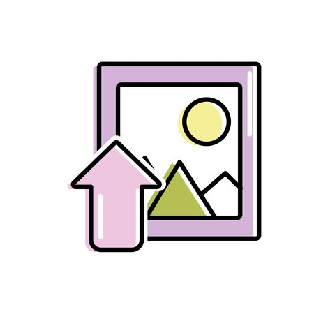 decorating: frame picture loading element icon vector illustration Illustration