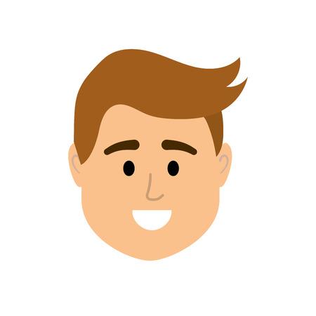 avatar man head to social user Illustration