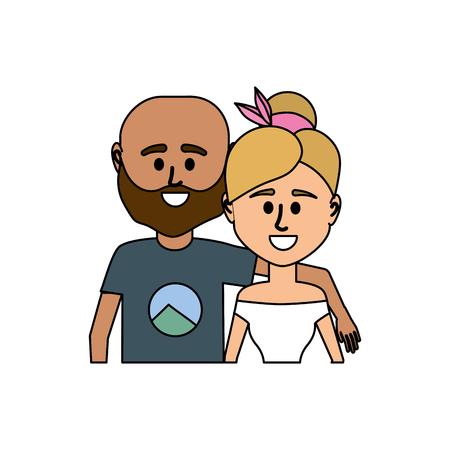 Paar zusammen mit Freizeitkleidung Standard-Bild - 87383456