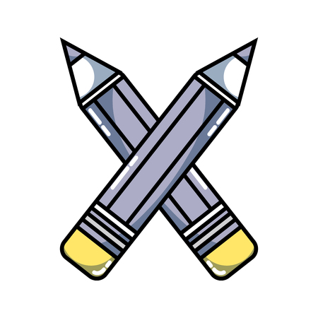 pencils colors school tool object design Illustration