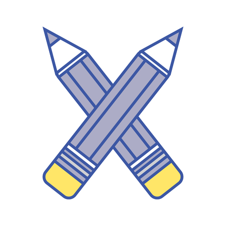 writing instruments: pencils colors school tool object design Illustration