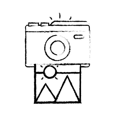 camera film: figure digital camera with picture art image